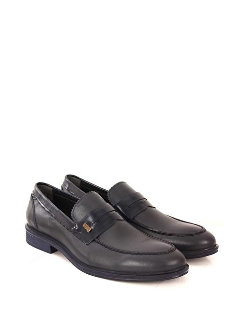 G.Ö.N. Hakiki Deri Ayakkabı Lacivert